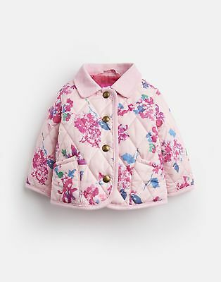 Joules 124946 Quilted Jacket in PINK FLORAL