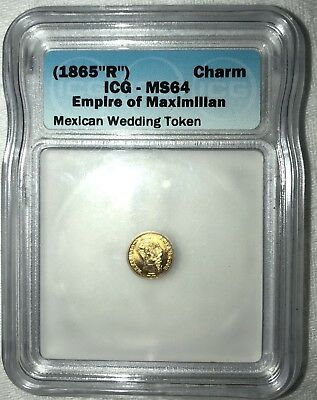 1865 R Maximilliam Gold Wedding Token-Authenticated