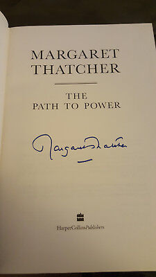 Margaret Thatcher The Path To Power Hand Signed Autographed 1St Edition Rare