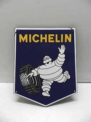 MICHELIN Bibendum targa lamiera smaltata Tabella emailled tin sign repro