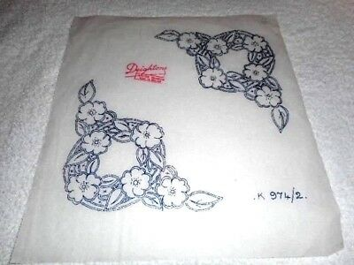 Vintage Embroidery Iron on Transfer  - Deightons No.974 - Flowers