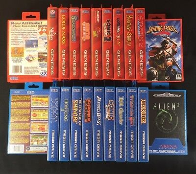 Sega Master System Game Cases Lot Of 12 Empty Cases And Artwork The Mega Consumers First Video Games & Consoles