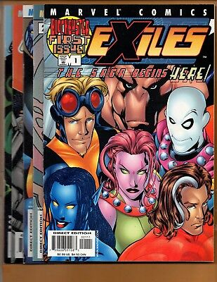Exiles #1 2 3 4 & 5 2001 first series NM to NM+