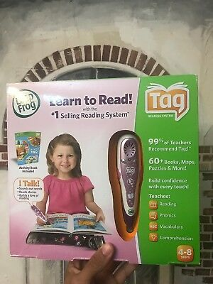 Leap Frog Learn To Read Tag Reading System Purple with pen