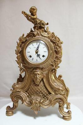 BIG CARTEL NEUCHATEL MANTEL CLOCK HERMLE Made in Italy  RICH ORNAMENTED