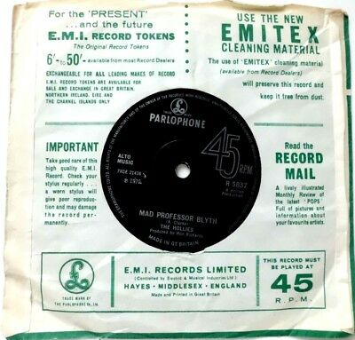 THE HOLLIES, I CAN'T TELL THE BOTTOM FROM THE TOP, Mad Professor Blyth, UK PRESS