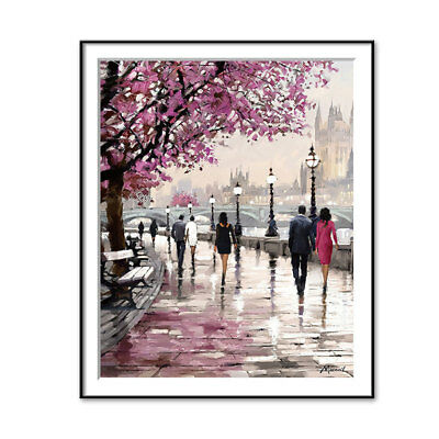 Cherry Blossom Tree Picture Wall Art Canvas Oil Painting Home Office Decoration