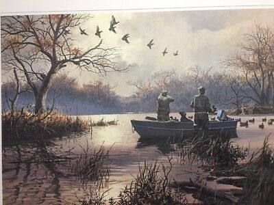 Ducks Unlimited Duck Hunting Art Print S/N Limited Edition Breaking Away