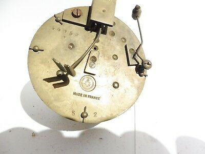 Found Antique French Japes Freres  Brass Striking  Clock Movement #44056