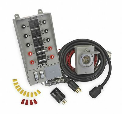 """Reliance Manual Transfer Switch, 60A, 125/250V Gray  Includes 120"""" Power Cord"""