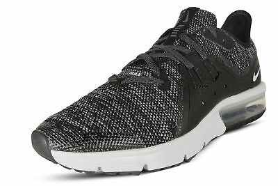 6f9bf8b2408d1e Nike Air Max Sequent Youth Boys Running Shoes 922884 001 Black White Dark  Grey