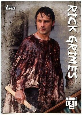 Rick Grimes #C-1 The Walking Dead Season 6 Character Topps 2017 Chase Card C1979