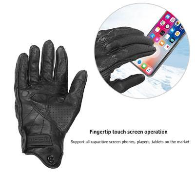 Mens Black Waterproof Pursuit Street Stealth Leather Motorcycle Gloves M/L/XL/XX