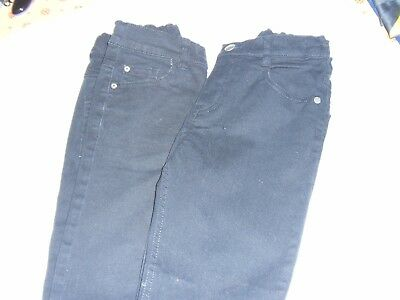 Two New Pairs Boys Black Skinny Jeans 7-8 yrs