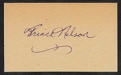 Prince Rogers Nelson Autograph Reprint On Old Card