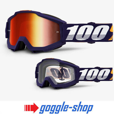 Anti-Fog Clear Lens GALAK 100/% ACCURI Adult Goggles Offroad Motocross