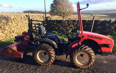Goldoni Quad 20 Diesel Compact Tractor 4x4 with Flail Topper Grass Mower