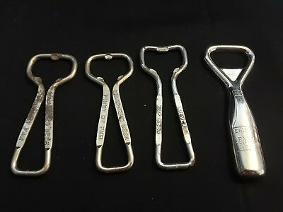 Vtg Collectible Lot Of 4 Bottle Openers Duquesne Eblings Extra Graupners Beer