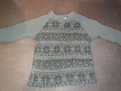 EUC Hanna Andersson Grey Thermal Sweater Size 90 3T