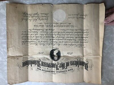 1800s Daughters Of The American Revolution Application Newspaper Provinance