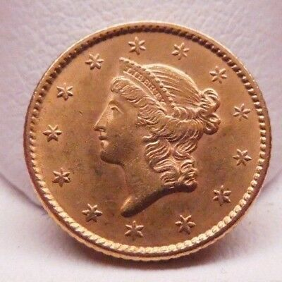 1852 Uncirculated One Dollar Gold Coin               See Picture for Condition