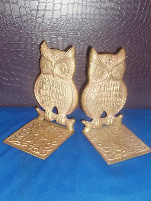 Owl Brass  Vintage Bookends