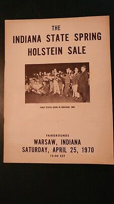 Indiana State Spring Holstein Dairy Cattle Sale Catalog 1970 Warsaw Indiana