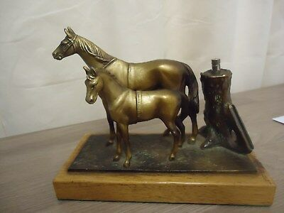 Victorian desk ornament horse and foul