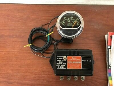vintage 60's sun tach tachometer and sending unit modernized