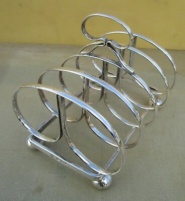 Fine Antique George V sterling silver toast rack, Chester 1923, 154 grams