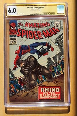 Amazing Spider-Man 43 CGC 6.0 Stan Lee Signed
