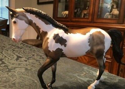 Peter Stone Thoroughbred. one of the kind dun pinto, #672