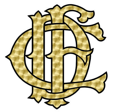 """Chicago Fire Department Decal Letter Nest Gold/Blk Decal 2"""""""