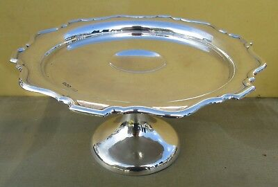 Antique George V sterling silver comport, 1922, C W Fletcher, 444 grams