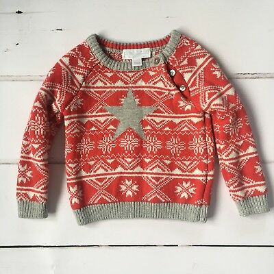 Little White Company Christmas Jumper 6-9 Months