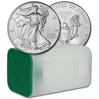 2014 American Silver Eagle (1 oz) $1 - 1 Roll - Twenty 20 BU Coins in Mint Tube
