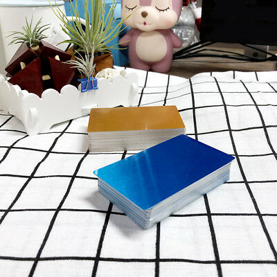 100Pcs Colorful Blank Metal Business Cards Laser Marking Material Thick-style B