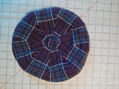 Dunn & Co Great Britian Vintage Plaid The Links Country Cap Air Force Tartan Sz7