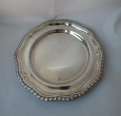 Solid Sterling Silver Side Plate 1945/ Dia 16 cm/ 160 g