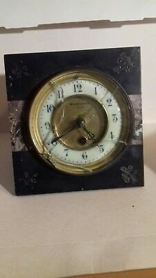 Slate Mantle Clock Movement as Found For Renovation Or Parts