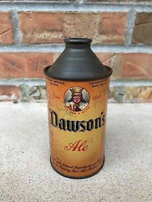 Vintage Dawson's Cone Top Ale 12 oz Beer Can