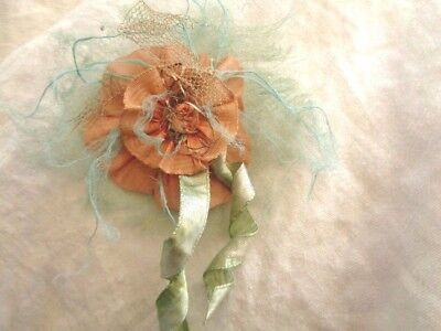 """Fantasy Ethereal Flower Great For Ballet Costume Silk Tule Silk Ombre 4 1/2"""""""