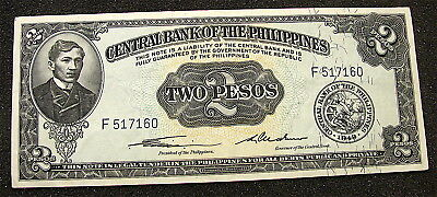 1949 Philippine Provisional Issue 2 Peso Note-----VF------FREE SHIP
