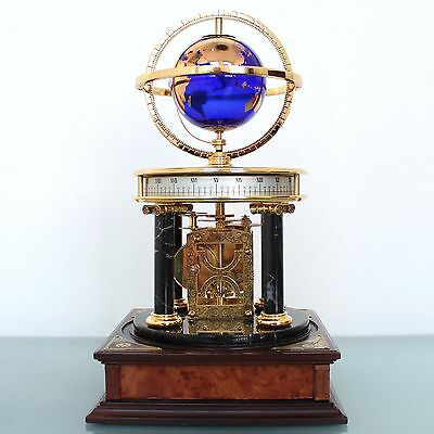 FRANKLIN MINT ROYAL GEOGRAPHICAL SOCIETY MILLENIUM Mantel Clock Astronomy Planet