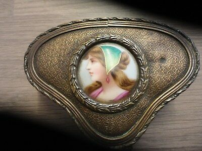 french jewel box with hand painted portrait