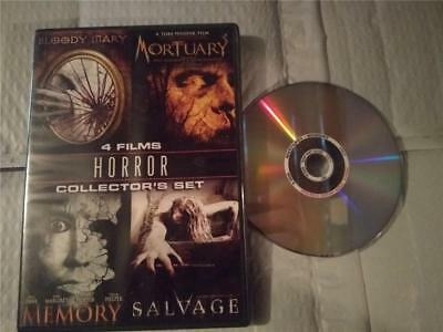 Horror Collector 4-Film Set (DVD, 2009) Memory/Salvage/Mortuary/Bloody Mary