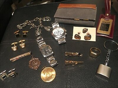 Men's Job Lot of Vintage & Modern Jewellery & Watches Working used