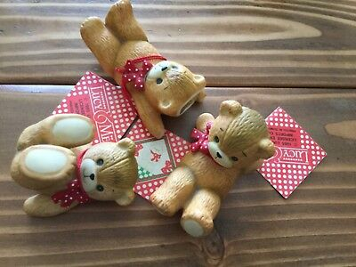 Lucy and Me Enesco 3 adorable acrobatic bears 1985 all with tags