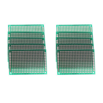 10x Double Sided PCB Board Prototype Kit for DIY Soldering 4x6cm Arduino Kit