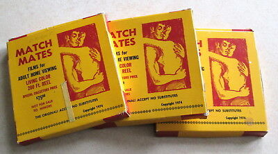 Lot Vintage Match Mates Adult Porno Stag 8mm Films Movies Oriental Passion